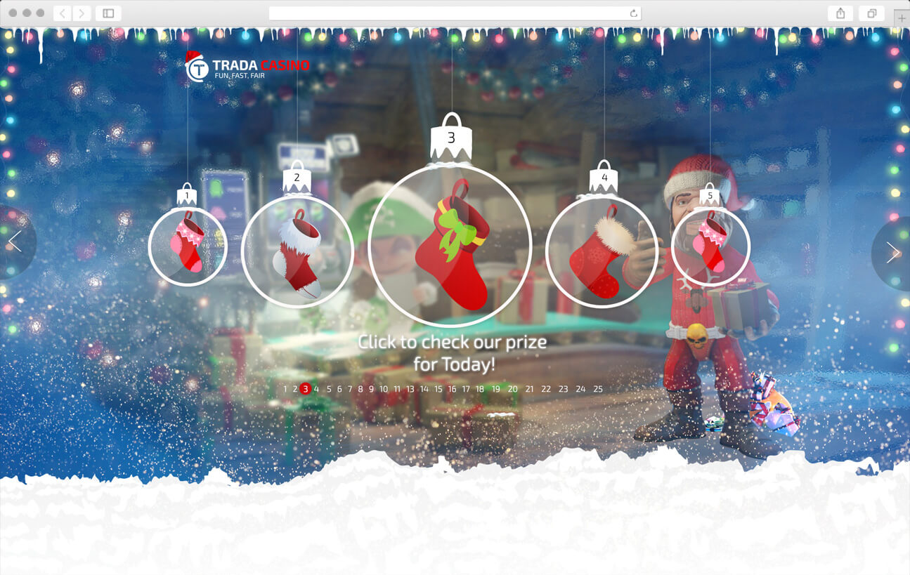 Home page design - Christmas Calendar