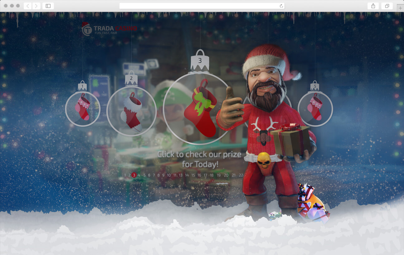Web Design - Christmas Calendar - Trada Casino
