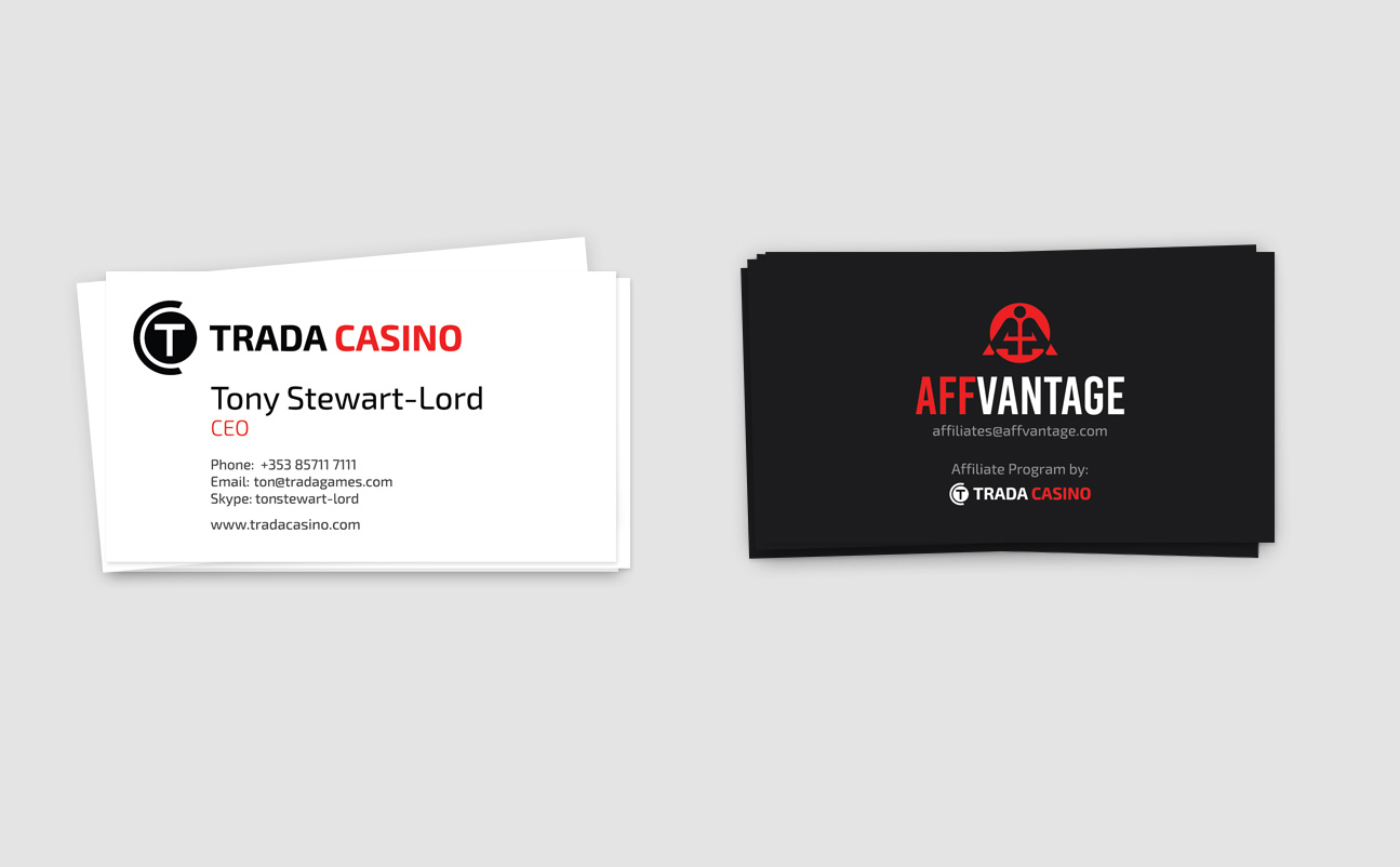 Business cards design - TradaCasino.com