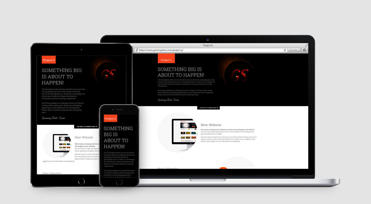 Responsive web design - Project G