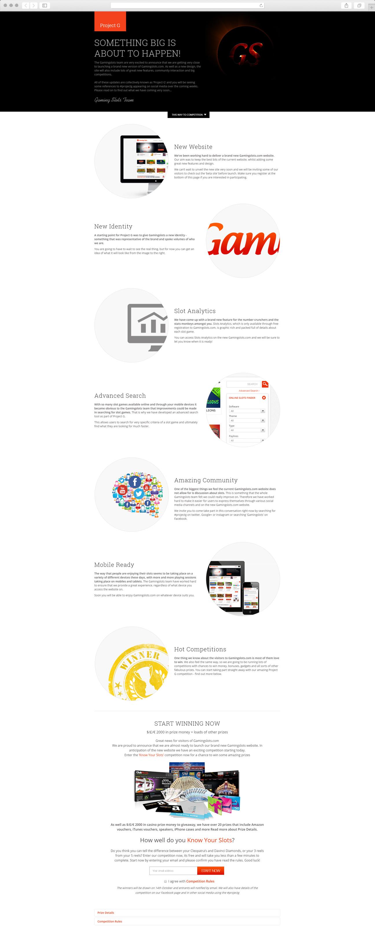 Web Design - Project G - promotion website