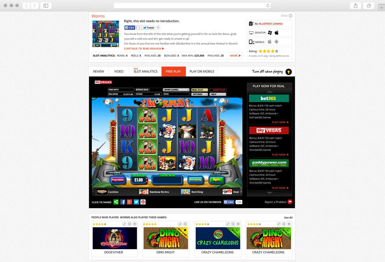 Redesign Play Now page