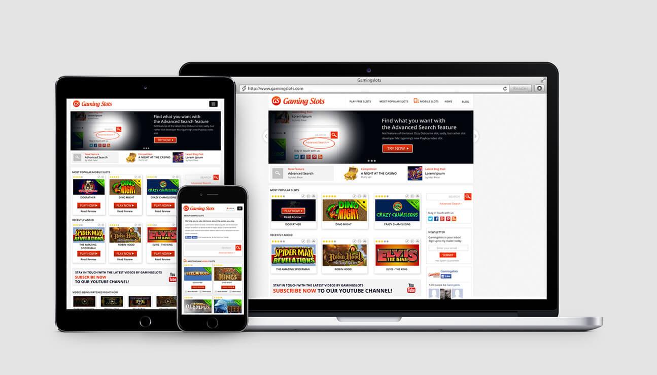 Responsive web design - gamingslots.com