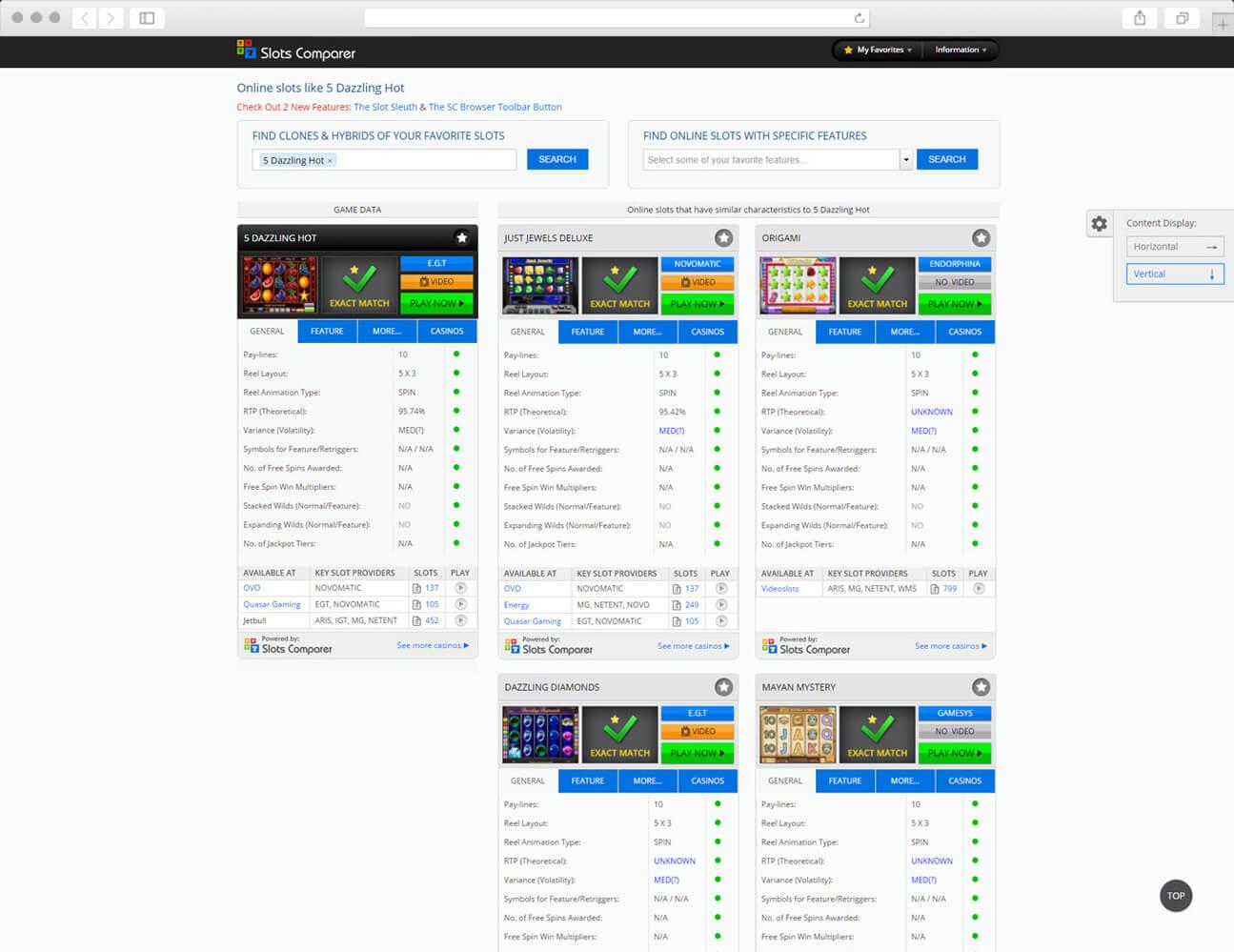Web Design Case Study - block elements - slotscomparer.com