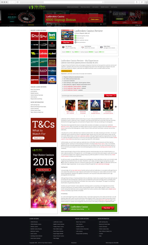 Web Design - topchoicecasinos.com