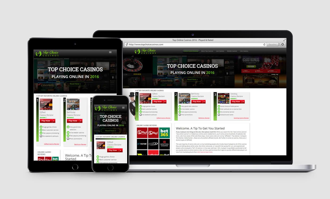 Responsive web design - topchoicecasinos.com