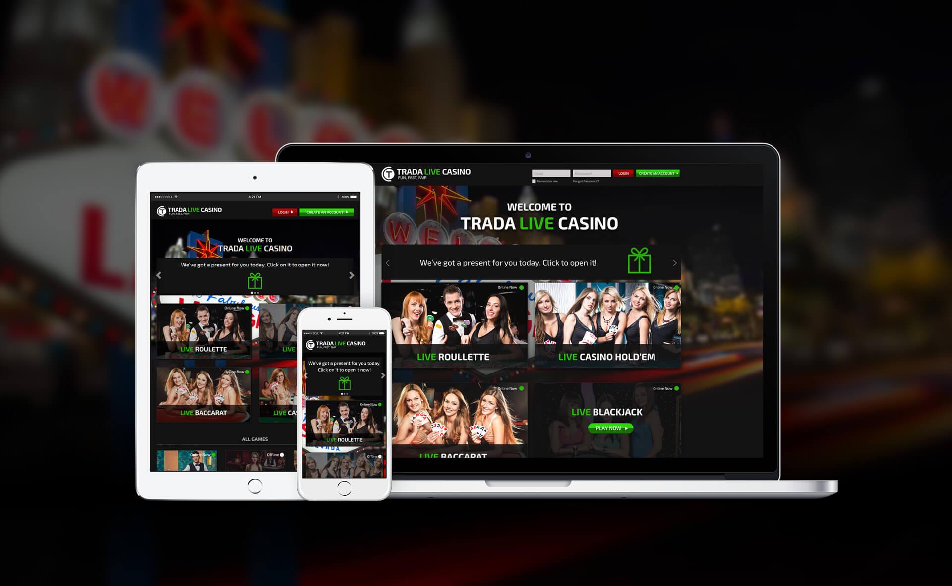 Responsive Web Design - Trada Live Casino