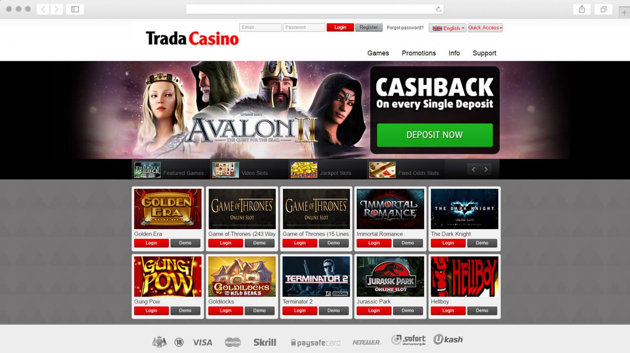 Initial layout - TradaCasino.com